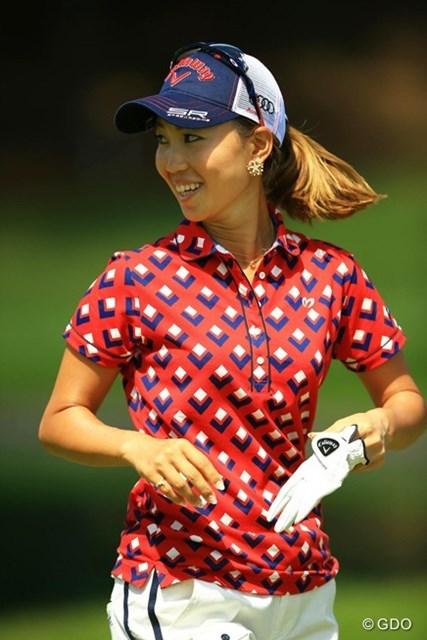 2014年 日本女子プロゴルフ選手権大会コニカミノルタ杯 4日目 上田桃子 最終日、調子が悪い中でも、笑顔を忘れない桃ちゃんでした。