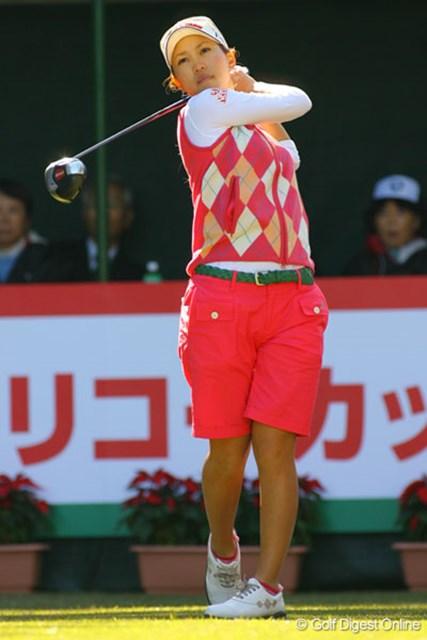 上田桃子 1アンダーの7位タイにつけた上田桃子。メジャー初勝利も獲得できるか!?