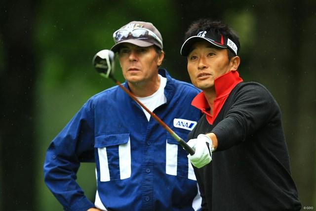 2014年 ANAオープンゴルフトーナメント 2日目 宮本勝昌 5番でイーグルを奪うなど2位タイに浮上した宮本勝昌