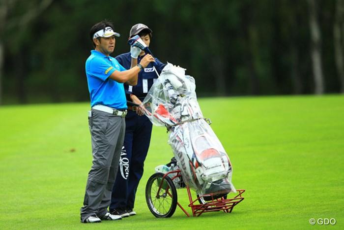 前半の貯金が効きましたね。67のラウンドで9位タイに。 2014年 ANAオープンゴルフトーナメント 2日目 海老根文博