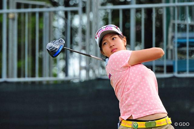 「スコアを見たら80点だが、ゴルフの内容はもうちょっと低い」。2日目はノーボギーラウンドを目指す三浦桃香