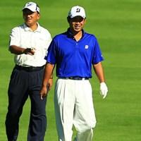 夢の3タック対決!あとはここに藤本君がいれば完璧なのに・・・ 2014年 ANAオープンゴルフトーナメント 3日目 細川和彦 池田勇太
