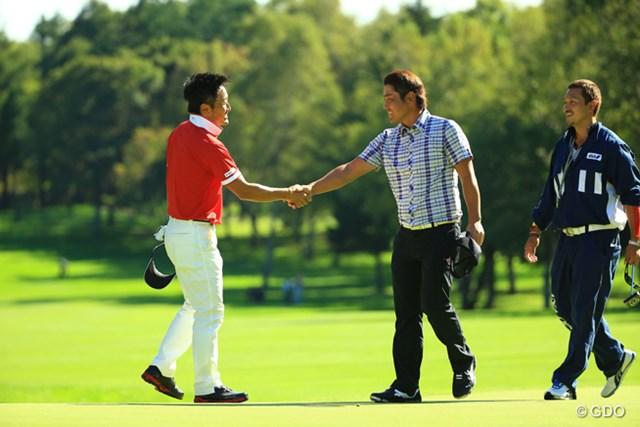 2014年 ANAオープンゴルフトーナメント 最終日 宮本勝昌 谷原秀人 プレーオフで宮本に敗れたが楽しかったという谷原秀人