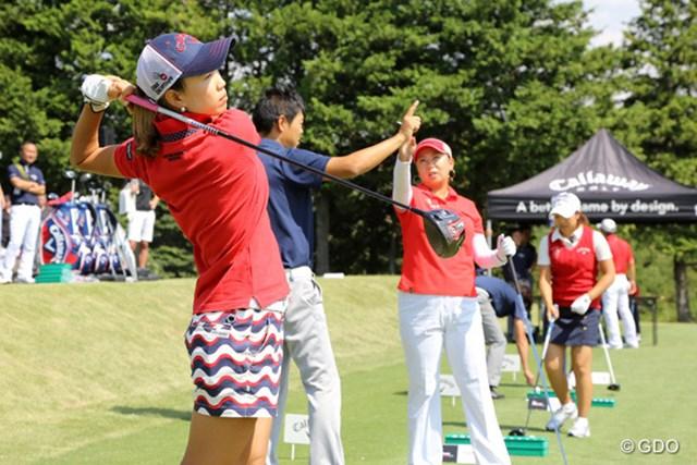 上田桃子 上田は「ボールを押せる」ことを強調