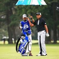 ネクタイなんかしちゃって!ゴルフ場のマナー 2014年 アジアパシフィックオープンゴルフチャンピオンシップ ダイヤモンドカップゴルフ 初日 岩田寛