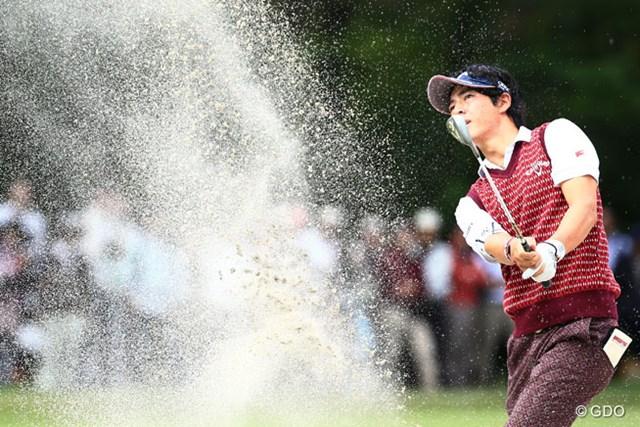 2014年 アジアパシフィックオープンゴルフチャンピオンシップ ダイヤモンドカップゴルフ 3日目 石川遼 バンカーの砂ってこんなに飛ぶんですね