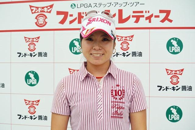 6バーディノーボギーの「66」をマークして単独首位の好スタートを切った槇谷※画像提供:日本女子プロゴルフ協会