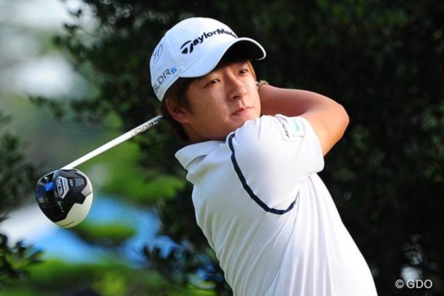 初日首位タイに立った韓国のキム・スンヒョグ