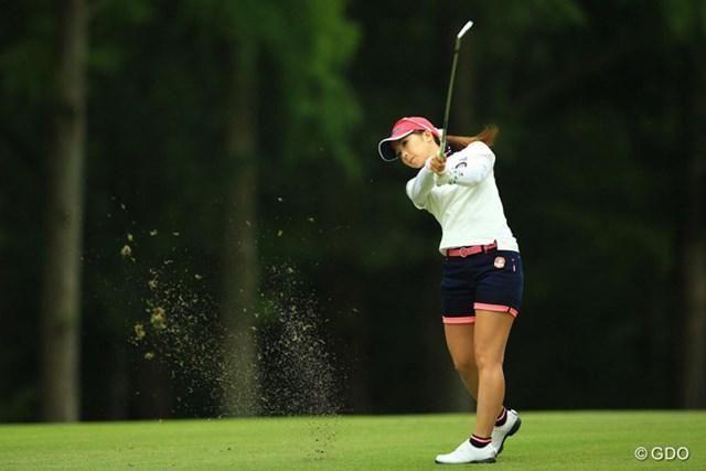 2014年 日本女子オープンゴルフ選手権競技 2日目 菊地絵理香 菊地絵理香が通算6アンダーで首位タイに浮上した