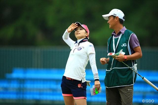 2014年 日本女子オープンゴルフ選手権競技 2日目 菊池絵理香 もしかして・・・初優勝・・・見えちゃった?
