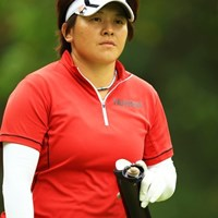 エコなユンジェさん、マイボトル持参で。 2014年 日本女子オープンゴルフ選手権競技 3日目 ウェイ・ユンジェ