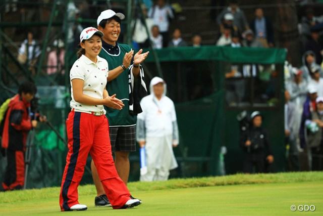 2014年 日本女子オープンゴルフ選手権競技 最終日 永井花奈 国内メジャーを日本人最高位の3位で終えた永井花奈。最後まで笑顔が光った4日間だった