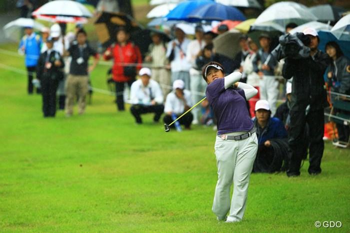 最終組でのラウンドでした。前半は順調に優勝争い。しかしバックナインでまさかの41。6位タイフィニッシュ。 2014年 日本女子オープンゴルフ選手権競技 最終日 ウェイ・ユンジェ