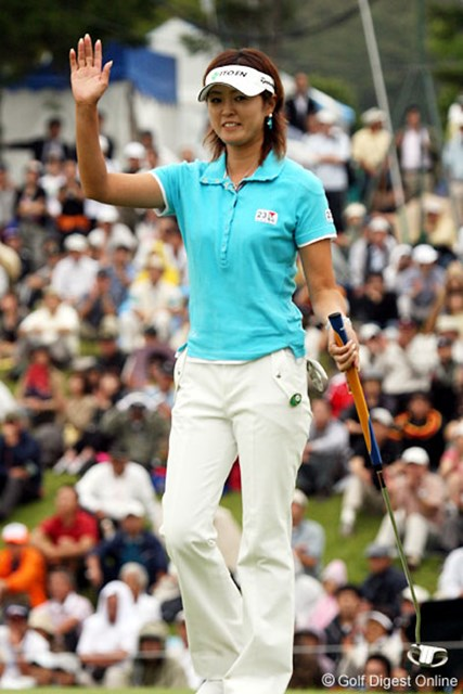 日下部智子 優勝には1打届かなかったが、終始落ち着いたプレーを見せた日下部智子