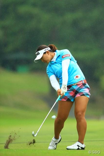 2014年 日本女子オープンゴルフ選手権競技 最終日 鈴木愛 鈴木愛を支える個性派スイング。20歳が持つ体の特性と感性が凝縮されている