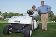 2014年 PGAツアーのルールオフィシャル スラッガー・ホワイト(左)とビル・ラッセル