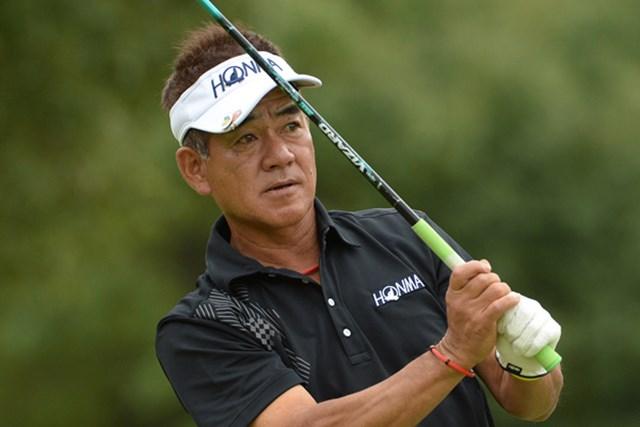 2014年 第53回日本プロゴルフシニア選手権大会 住友商事・サミットカップ 初日 佐藤剛平 メジャーの初日、単独首位発進を決めた佐藤(画像提供PGA)