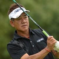メジャーの初日、単独首位発進を決めた佐藤(画像提供PGA) 2014年 第53回日本プロゴルフシニア選手権大会 住友商事・サミットカップ 初日 佐藤剛平