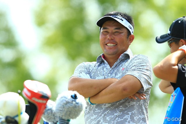 2014年 TOSHIN GOLF TOURNAMENT IN Central 2日目 小田龍一 ドヤ顔、炸裂です!前半は大人しいゴルフでしたが、バックナインでは30をマークし66。3位タイに浮上です。