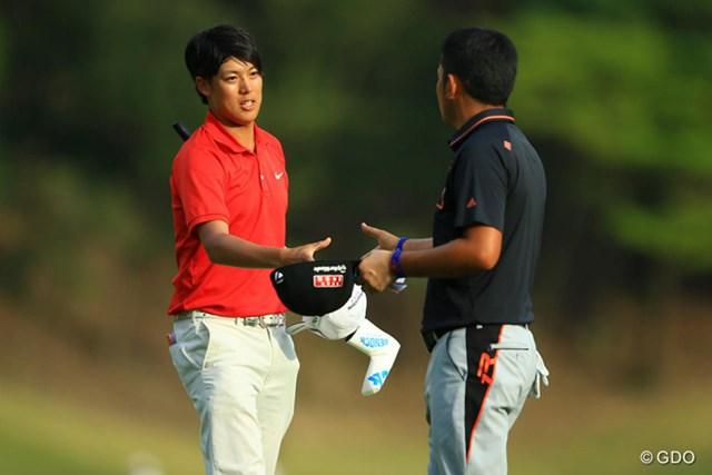 2014年 TOSHIN GOLF TOURNAMENT IN Central 2日目 長谷川祥平 前半は着々とスコアを伸ばしていたのですが・・・上がり3ホールでスコアを落し、18位タイに後退です。