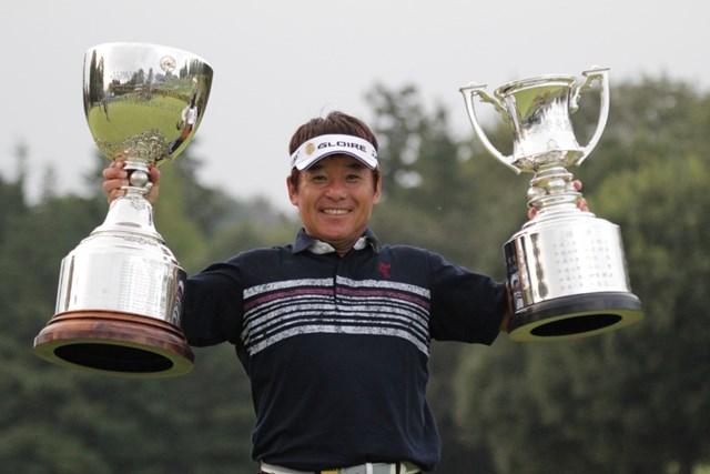 2014年 第53回日本プロゴルフシニア選手権大会 住友商事・サミットカップ 最終日 尾崎直道 尾崎直道が三つ巴のプレーオフを4ホール目で制して優勝した(画像提供PGA)