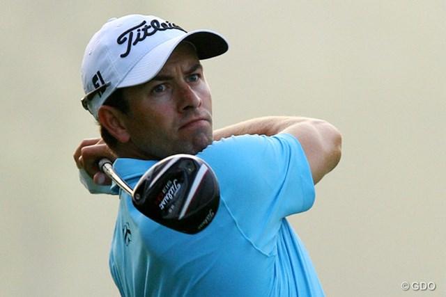 2014年 日本オープンゴルフ選手権競技 事前 アダム・スコット 台風の影響でスコットの来日は1日遅れることになった ※2014年8月「ザ・バークレイズ」2日目に撮影