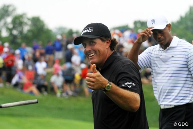 勝てる米国選抜へ…PGAは「ライダーカップ」敗因分析にウッズ&ミケルソンらの見解を聞く ※撮影は2014年全米プロ初日