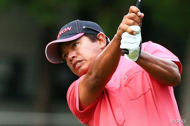 2014年 日本オープンゴルフ選手権競技 初日 プラヤド・マークセン 7アンダーで単独首位発進としたプラヤド・マークセン