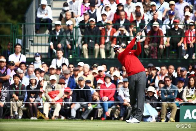 2014年 日本オープンゴルフ選手権競技 初日 アダム・スコット 7年ぶりの日本参戦。大ギャラリーに迎えられたスコットは2アンダーと上々の滑り出しを見せた