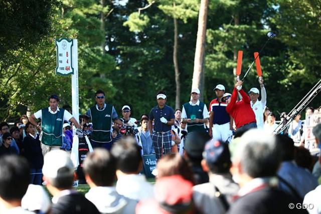 2014年 日本オープンゴルフ選手権競技 初日 アダム・スコット、ヤン・ガン、藤田寛之 ギャラリーも前年比+3001人これもアダム人気