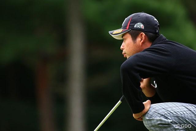 2014年 日本オープンゴルフ選手権競技 初日 池田勇太 ラインを読むのも真剣勝負