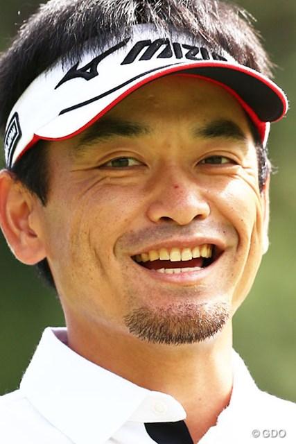2014年 日本オープンゴルフ選手権競技 初日 竹谷佳孝 レンズを向けてると目線がバッチリ!ありがとうって言ってましたよ