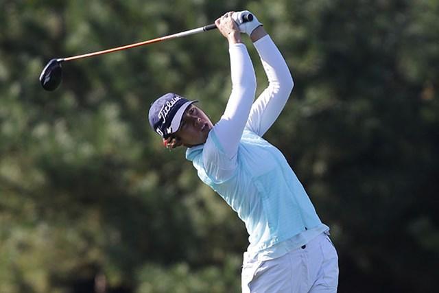 2014年 LPGA KEB・ハナバンク選手権 2日目 カリン・イシェール 通算5アンダーとしたカリン・イシェールが首位に立った(Chung Sung-Jun/Getty Images)
