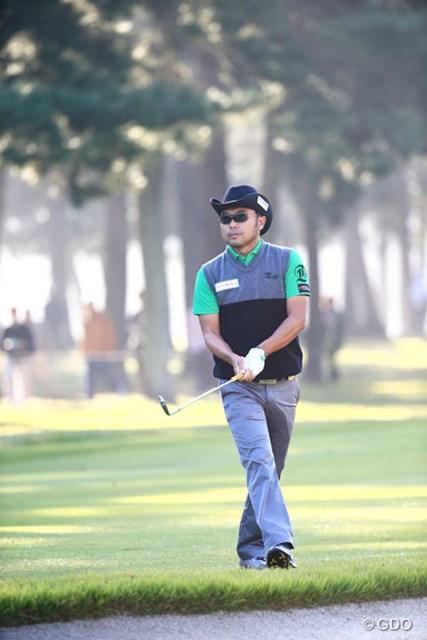2014年 日本オープンゴルフ選手権競技 2日目 片山晋呉 2005年、08年大会を制した片山。百戦錬磨の男が3位に浮上した