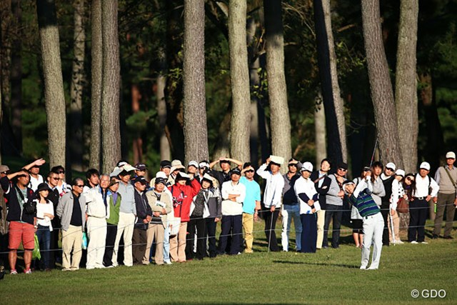 2014年 日本オープンゴルフ選手権競技 2日目 近藤共弘 太陽がまぶしすぎるぜ