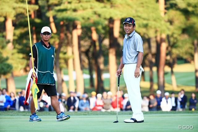 2014年 日本オープンゴルフ選手権競技 2日目 池田勇太 最後はパーフィニッシュスマイルかな