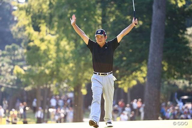 2014年 日本オープンゴルフ選手権競技 3日目 池田勇太 池田勇太が通算12アンダーとし単独首位に浮上。15番で7mのバーディパットを沈め逆転した