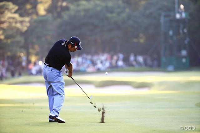 2014年 日本オープンゴルフ選手権競技 3日目 池田勇太 プロのインパクトってカッコイイな~