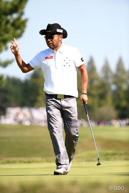 2014年 日本オープンゴルフ選手権競技 3日目 片山晋吾 2位T浮上で最終日最終組、明日は張り切っちゃうよね