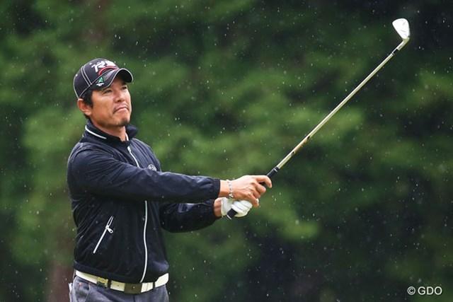 2014年 ブリヂストンオープンゴルフトーナメント 初日 矢野東 終盤の4連続バーディで6アンダーとし、単独首位の好スタートを切った矢野東