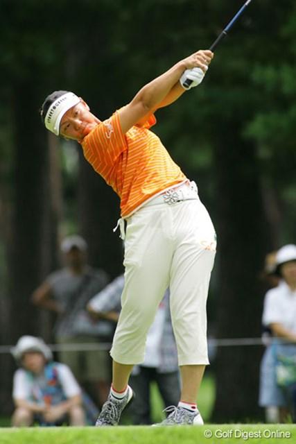 「反省するのはパットです」。今季自己ベストタイの2位に入った中田美枝