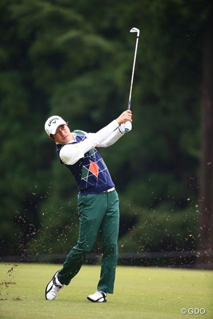 2014年 ブリヂストンオープンゴルフトーナメント 初日 深堀圭一郎 初日3アンダースタートでトップテン入り