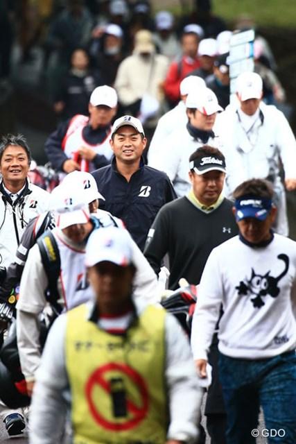 2014年 ブリヂストンオープンゴルフトーナメント 初日 池田勇太 ホストプロとして表情も明るく