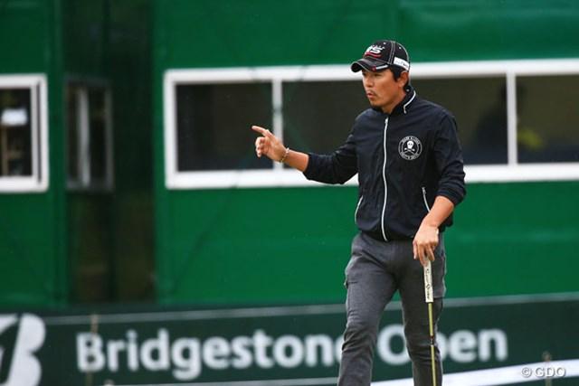 2014年 ブリヂストンオープンゴルフトーナメント 初日 矢野東 最終18番はバーディで単独トップに