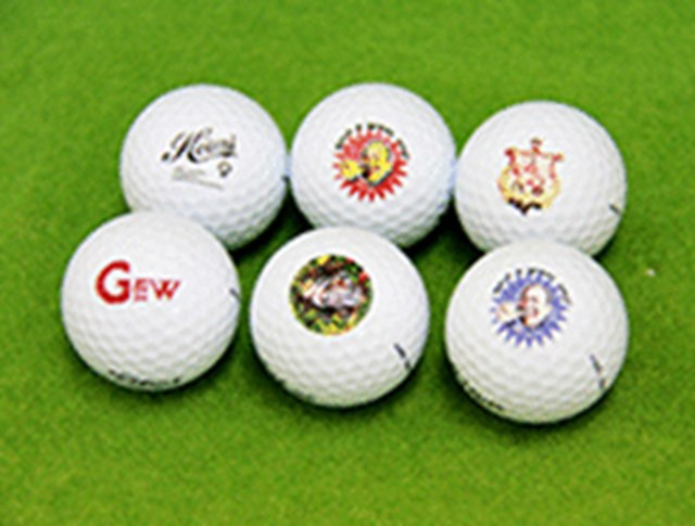 ゴルフボールにデザインが入る 『ハイアート・ゴルフボール』