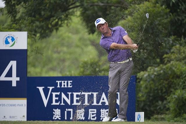 2014年 ベネチアン・マカオオープン 2日目  スコット・ヘンド スコット・ヘンドが通算10アンダーで首位タイに立った(アジアンツアー)