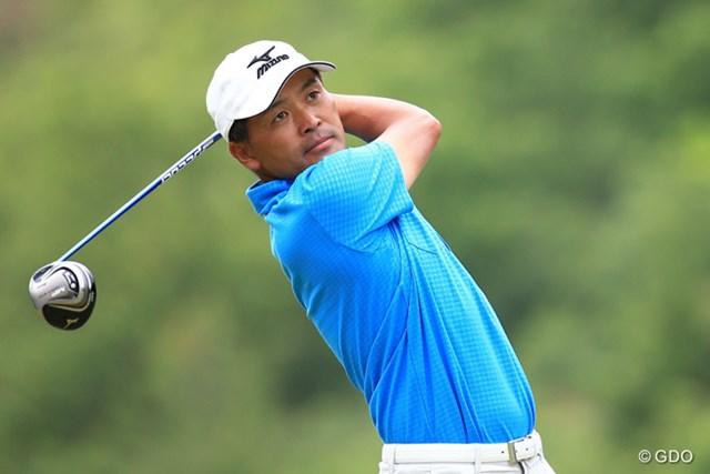 手嶋多一は両肩と目線をチェック。もちろん継続しないと意味はない(撮影は日本プロゴルフ選手権)