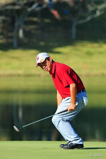 2014年 マイナビABCチャンピオンシップゴルフトーナメント 初日 池田勇太 18番ロングで2オン!イーグルパットはカップに向かって一直線!入ることを確信したドヤ顔ですが…