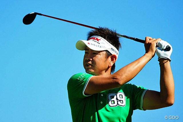 2014年 マイナビABCチャンピオンシップゴルフトーナメント 初日 藤田寛之 序盤の2オーバーから、怒涛の1イーグル、4バーディでアッという間に10位タイ。強い人は絶対に崩れんのですワ。