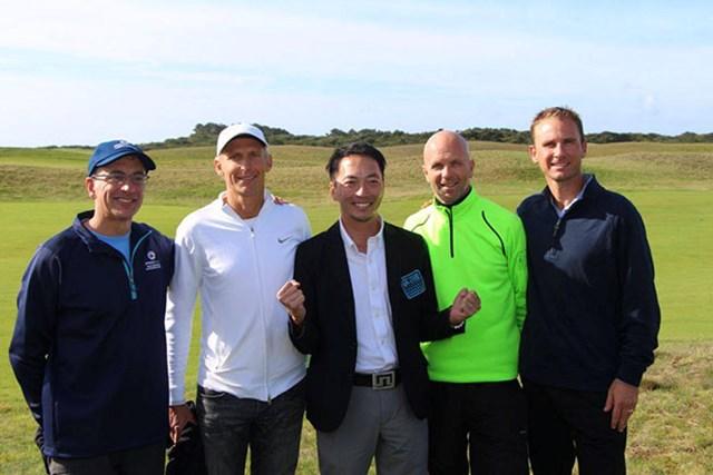 2014年  スピードゴルフ世界選手権 松井丈 日本から出場した松井丈(中央)が7位に入賞した